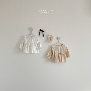 【予約販売】lace-frill blouse〈aladin kids〉
