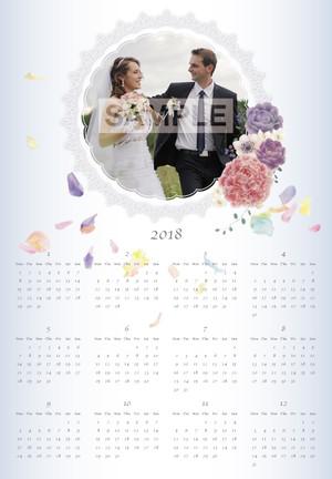 ウェディング風カレンダー 2018年版 A3サイズ