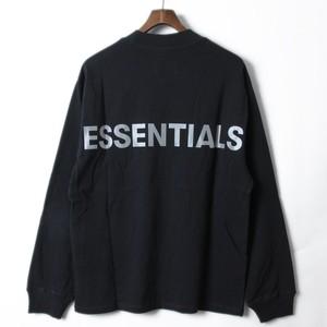 FOG - Fear Of God Essentials フィアオブゴッド バックロゴ  ロンT S ブラック r014654