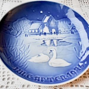 北欧クリスマス ROYAL COPENHAGEN ロイヤルコペンハーゲン 絵皿 プレート 1974年 絵皿 【EX1911-D27】
