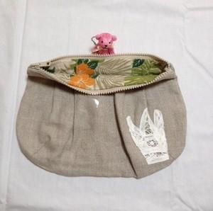 リネンセカンドバッグ小