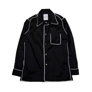 Epaulet Shoulder Shirts (Black)