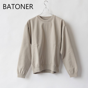 BATONER/バトナー・Degrease Crew Neck