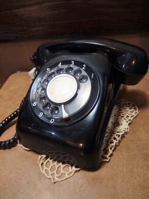 ダイヤル式黒電話 電電公社 600-A1 1967年