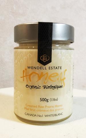 カナダ産/オーガニックウェンデル蜂蜜(白)500g(大)
