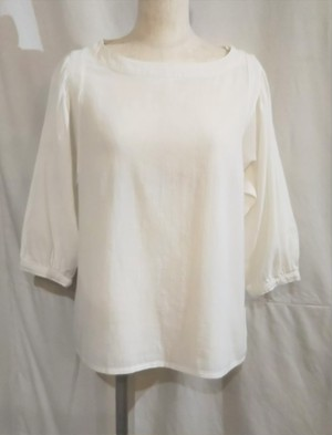 wrinkle cotton pullover blouse [K-907]