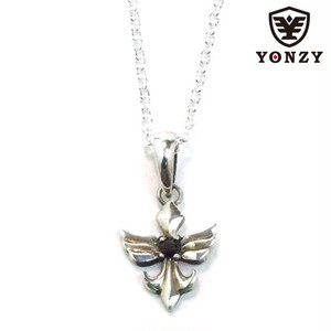 YONZY Phoenix Necklace SV small ブラックスピネル
