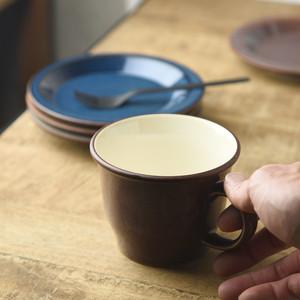 ボードー 13.5cmマグカップ/スープカップ レッドブラウン[日本製/美濃焼/洋食器]