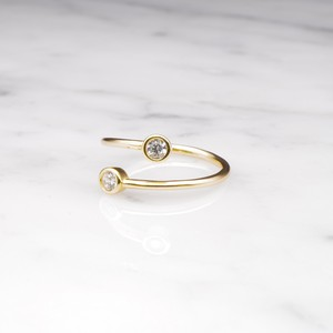 【RESTOCK】S925 DOUBLE CIRCLE ZICONIA RING GOLD