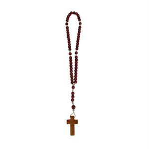 シスターの手編み木製ロザリオ/イエスの小さい姉妹の友愛会