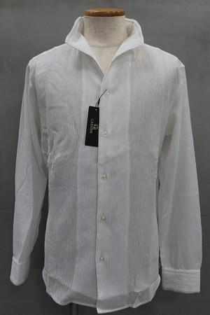 GARNIER ガルニエ 楊柳スタンドカラーシャツ ホワイト
