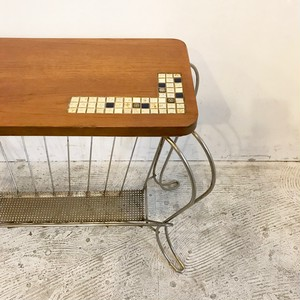 70's Vintage Side Table with Magazine Rack オランダ