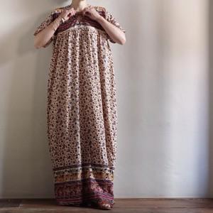 India Cotton Dress / 更紗 コットン ドレス