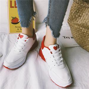【shoes】カラーマッチングファッションスニーカー女性新作