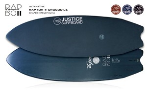 【justice surfboards】クロコダイルスキン RAPTORll