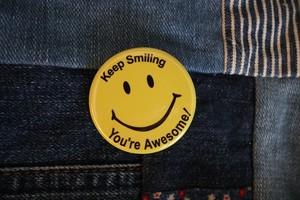 Keep Smiling' badge