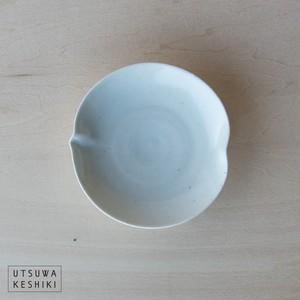 [幾田 晴子]白瓷 桃小皿