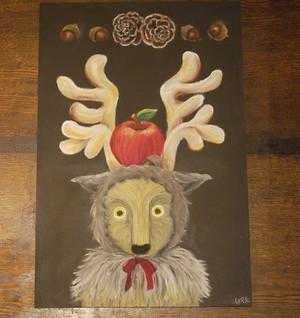 トナカイ リンゴ&どんぐり
