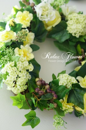 Yellow&Green Wreath 1