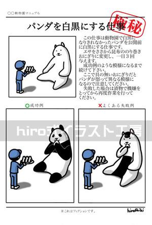 パンダを白黒にする仕事(ポストカード)