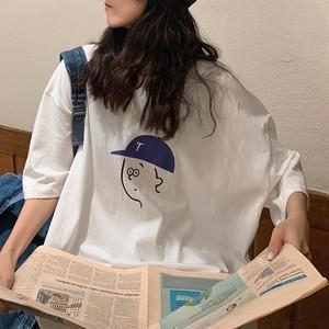 【トップス】欠かせない カジュアル カートゥーン ロング プリント トップス Tシャツ47501397