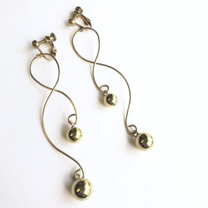 Wire drop earrings No.407
