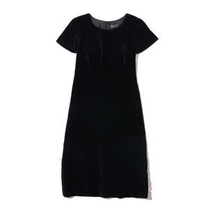 agnès b. (FR)    velveteen   ribbon  dress