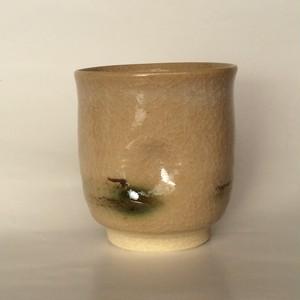【雪舟焼】湯呑 (透明釉・かたえくぼ)