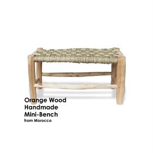 オレンジの木のベンチ [mini]