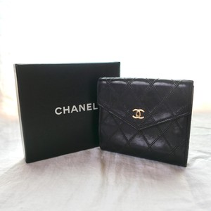 CHANEL Leather Quilting Wallet