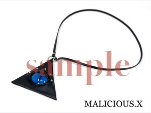【オーダー品】cat eye triangle coin case / deep blue】marble