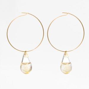 tear drophoop earrings  ss-03-2