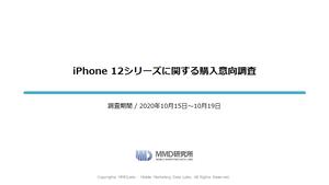 iPhone 12シリーズに関する購入意向調査