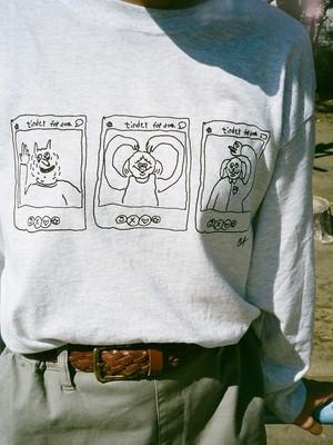 Tinder For Dog ロングTシャツ