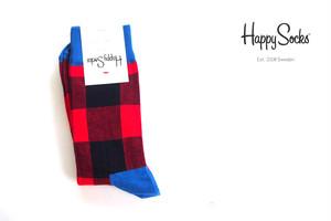 ハッピーソックス|happy socks|クルー丈カジュアルソックス|パネル柄ソックス|LUMBERJACK|10117016