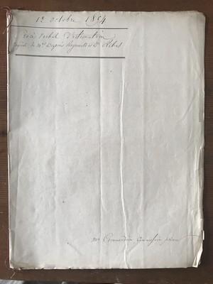 カリグラフィーが美しい!フランスアンティークマニュスクリ(公文書1894年)