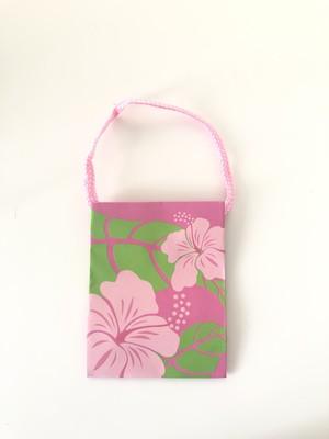 タイニーペーパーバッグ Hibiscus Pink(3個セット)
