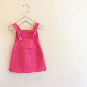 サロペットスカート☆ベリーピンク ラスト1点90サイズ
