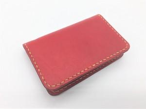 ♪オーダーメイド レザー 名刺入れサイズの小さなお財布 コンパクトウォレット♪