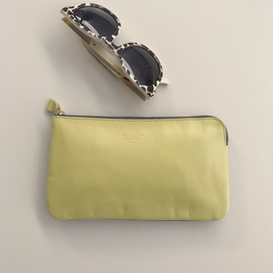 2Tone Lether Pouch (Yellow×Gray)