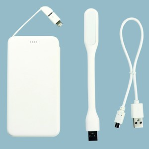 5,000mAhモバイルバッテリー(LEDライト付き)