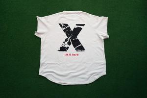 "Cutoff Raglan ""X""T-Shirts (BN/BK)"