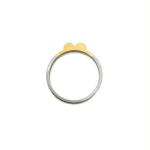 """TAZOE(タゾエ) Punch hole project ring """"Double mountain"""" リング"""