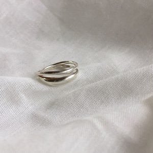 Silver925 double line ring 0015