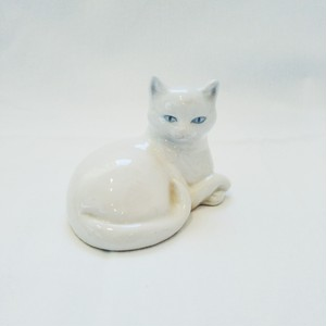 Vintage White Cat Object