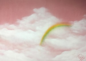 『虹かかる』雨が降ったから見れたんだね。