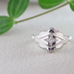 Lozenge Ring ✧silver925 アクアマリン✧