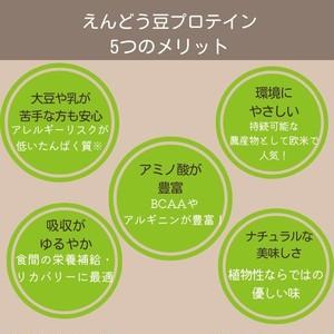 ソライナ・プロテイン:ダークチョコレート味【エンドウ豆プロテイン】