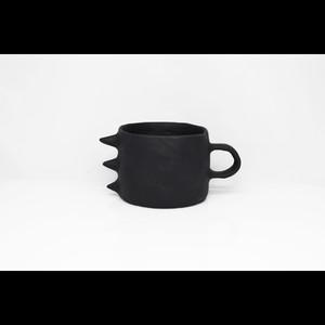 """ポップでアートな器【Kira Ni Ceramics /キラニセラミックス】""""DRAGON"""" Coffee Mug Cup コーヒーマグカップ (BLK)"""