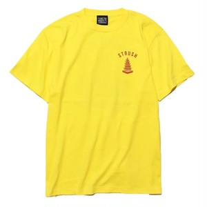 strush wheel / Tee Shirts / Temple of The Speed / Art by 2YANG / yellow / 5.6oz / XL